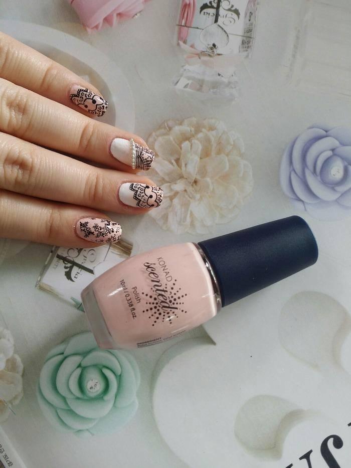 レース&花柄ネイル